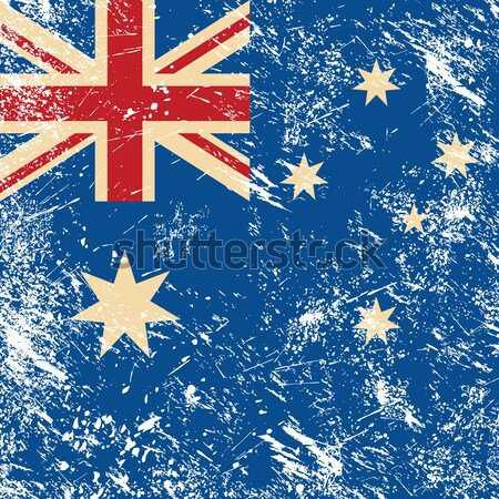 New Zealand retro flag Stock photo © RedKoala