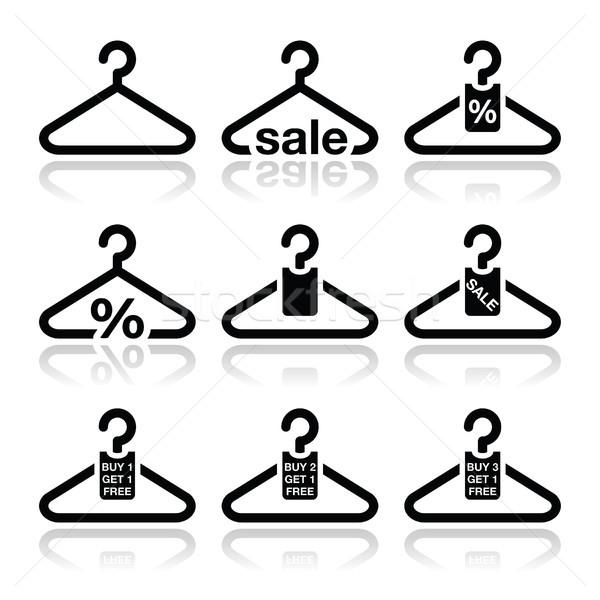Hanger, sale, buy 1 get 1 free icons set Stock photo © RedKoala