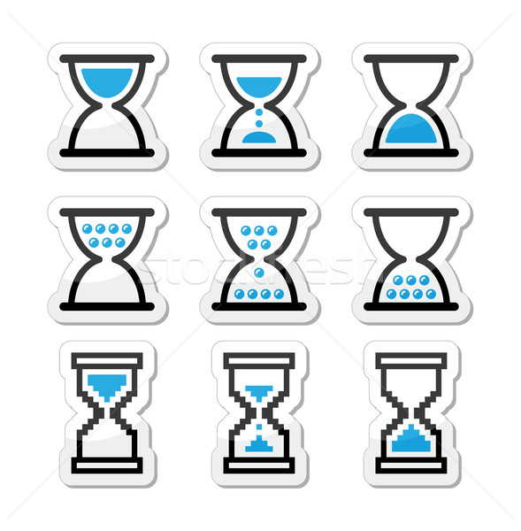 Hourglass, sandglass vector icon set Stock photo © RedKoala