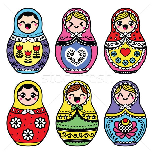 Kawaii cute ruso muneca arte Foto stock © RedKoala