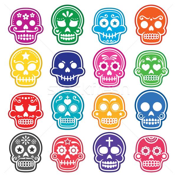 Stok fotoğraf: Halloween · Meksika · şeker · kafatası · karikatür · simgeler