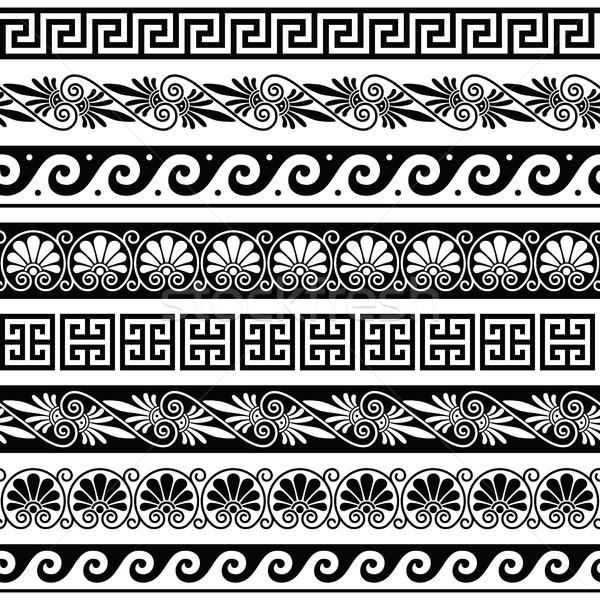 ősi görög minta végtelenített szett antik Stock fotó © RedKoala