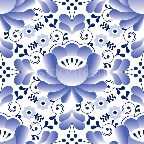 ロシア シームレス パターン 伝統的な デザイン 花 ストックフォト © RedKoala