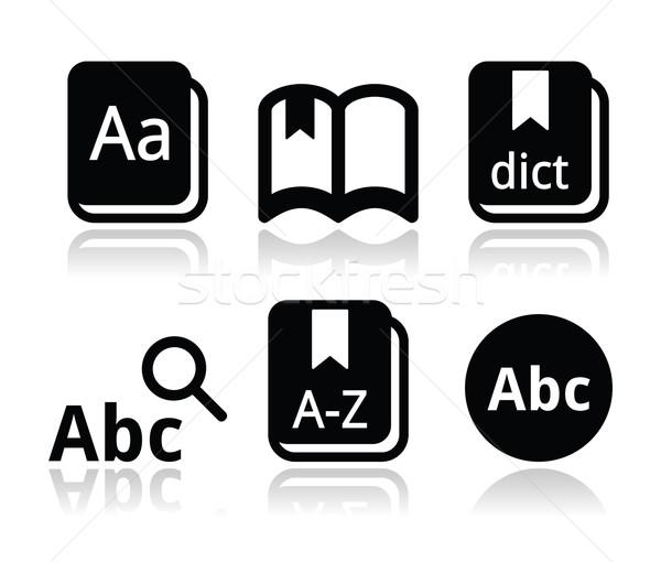Dictionary book vector icons set Stock photo © RedKoala