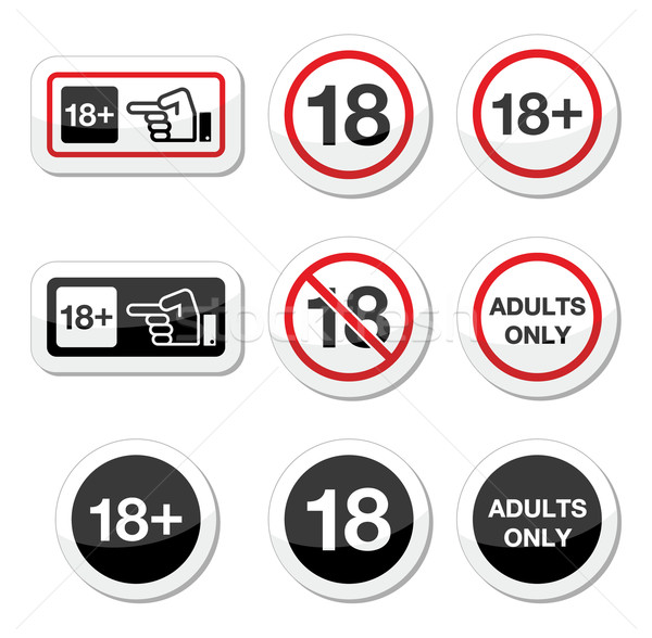 Under 18, adults only warning sign Stock photo © RedKoala