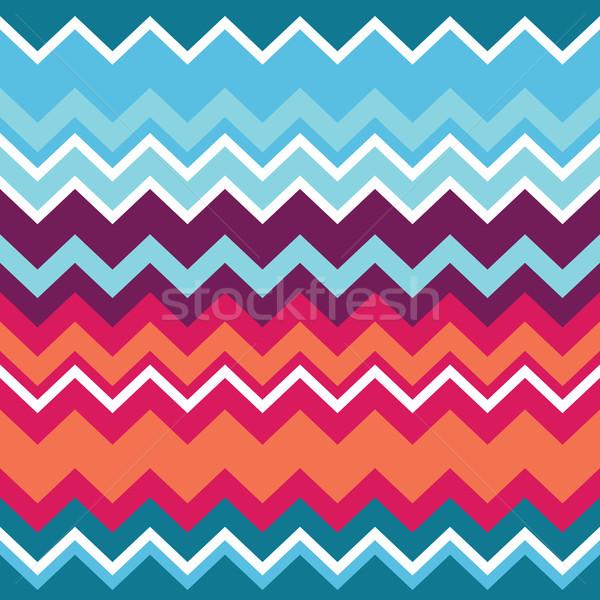 Tribal aztec zigzag seamless pattern Stock photo © RedKoala