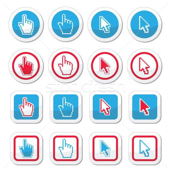 Mão seta cursor vetor site Foto stock © RedKoala