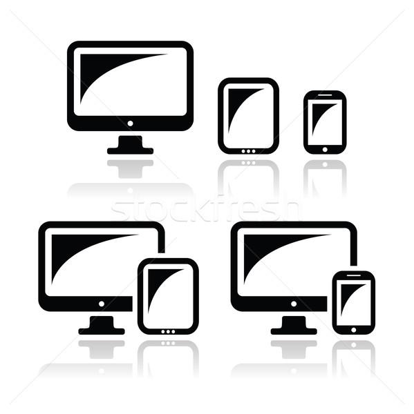 Computer tablet smartphone vettore di risposta Foto d'archivio © RedKoala