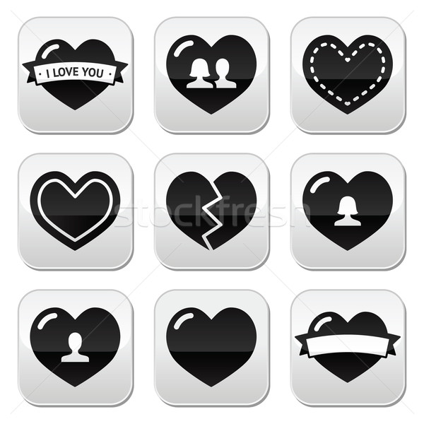 Love,hearts icons set for Valentine's Day Stock photo © RedKoala