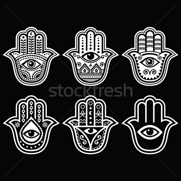 Hamsa hand, Hand of Fatima - amulet, symbol of protection from devil eye  Stock photo © RedKoala