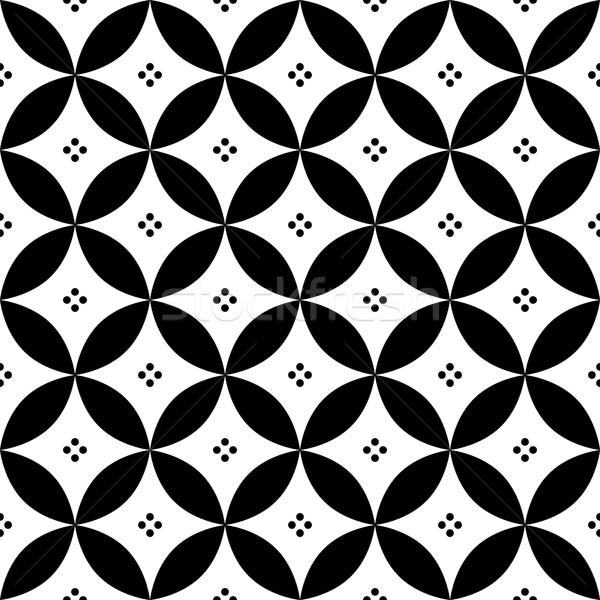 Geométrico preto e branco espanhol azulejos projeto Foto stock © RedKoala