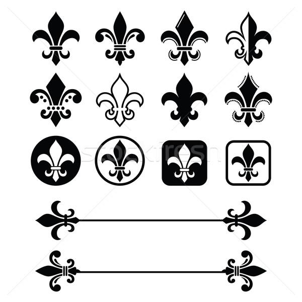 Fleur de lis - French symbol design, Scouting organizations, French heralry  Stock photo © RedKoala