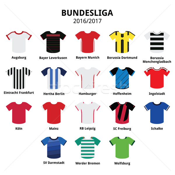 Bundesliga jerseys 2016 - 2017, German football league icons  Stock photo © RedKoala
