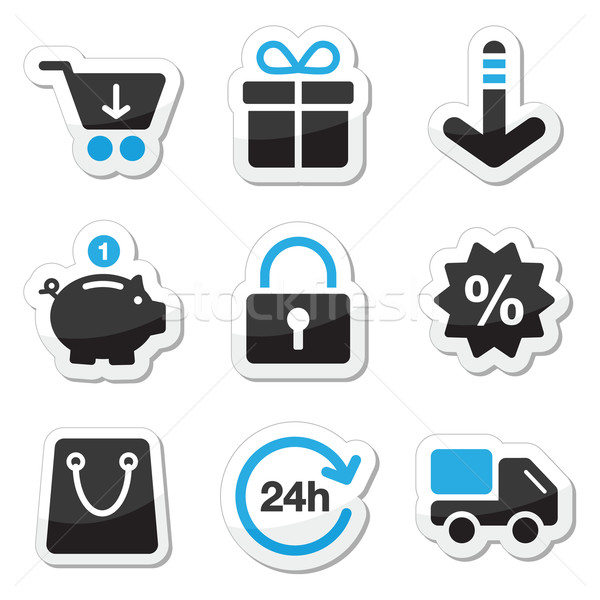 Web / internet icons set - shopping Stock photo © RedKoala