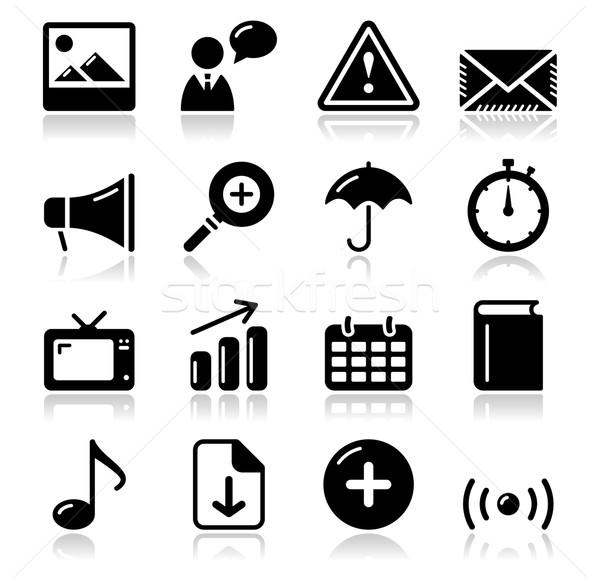 Weboldal internet fényes ikon szett modern alkalmazás Stock fotó © RedKoala