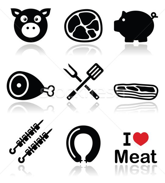 Stok fotoğraf: Domuz · domuz · eti · et · jambon · domuz · pastırması