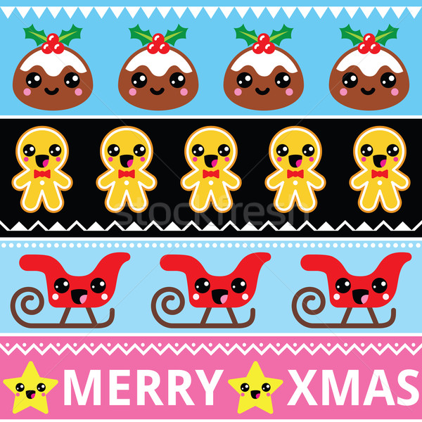 Noël cute kawaii heureux Photo stock © RedKoala