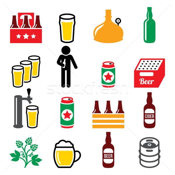 Cerveza cervecería potable alcohol pub vector Foto stock © RedKoala