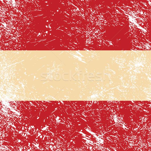 Austria retro flag Stock photo © RedKoala
