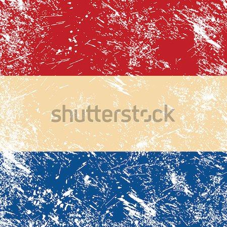 Czech retro flag Stock photo © RedKoala