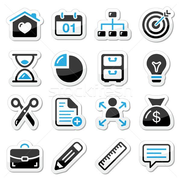Internet iconos de la web navegación negro azul Foto stock © RedKoala