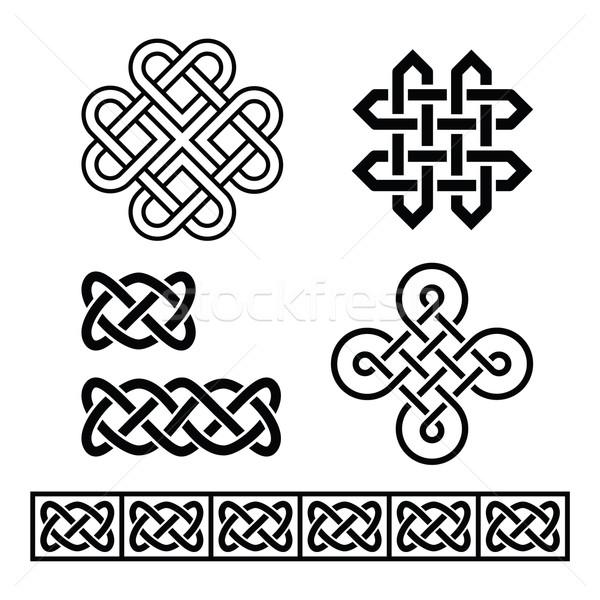 Celtic Irish patterns and braids - vector Stock photo © RedKoala