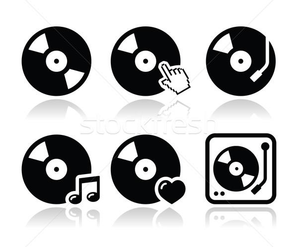 Vinyl record vector platenspeler geïsoleerd Stockfoto © RedKoala