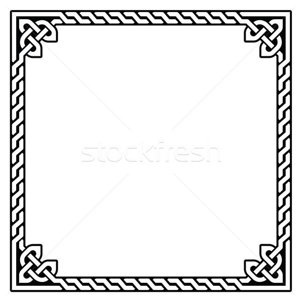 Celtic frame, border pattern - vector  Stock photo © RedKoala
