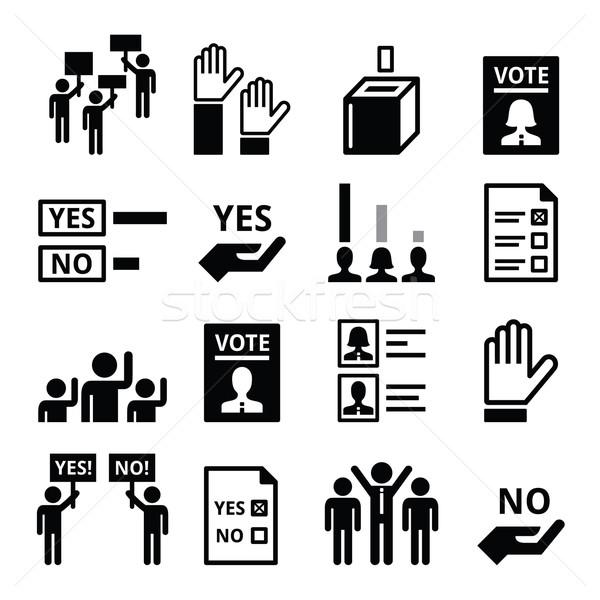 Democrazia politica vettore persone Foto d'archivio © RedKoala
