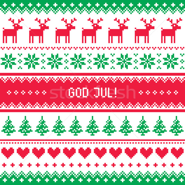 Merry Christmas In Norwegian.God Jul Pattern Merry Christmas In Swedish Danish Or