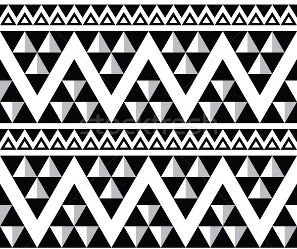 Tribal aztec abstract seamless pattern Stock photo © RedKoala