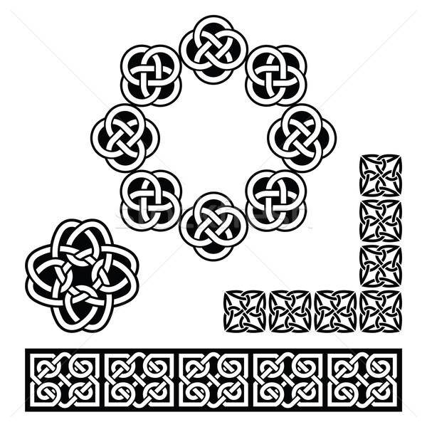 Irish Celtic design - patterns, knots and braids Stock photo © RedKoala