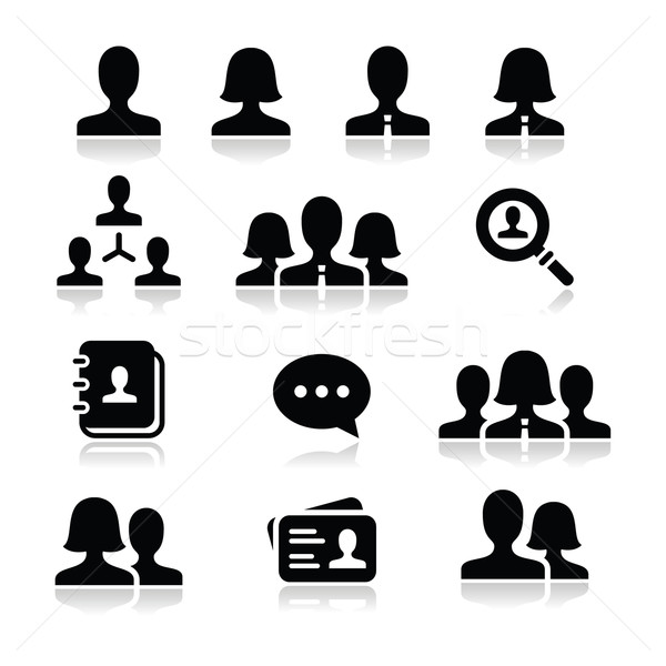 Man woman user vector icons set Stock photo © RedKoala
