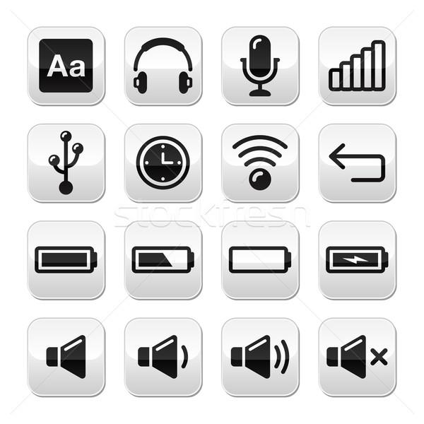 Eletrônico dispositivo software de computador botões conjunto vetor Foto stock © RedKoala