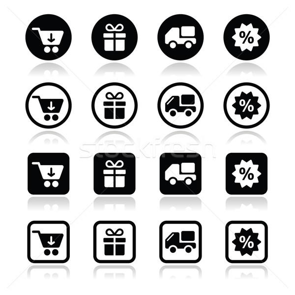 Winkelen internet zwarte schaduw online Stockfoto © RedKoala