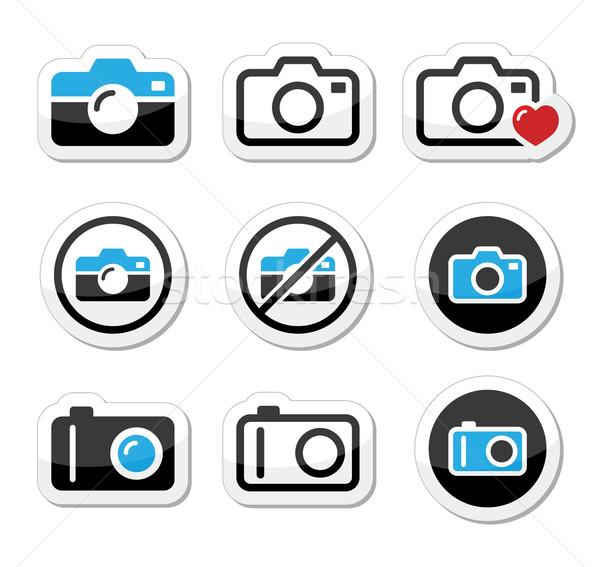 камеры цифровой вектора изолированный Сток-фото © RedKoala