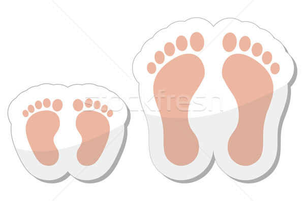 Footprint icon - baby, child and adult Stock photo © RedKoala