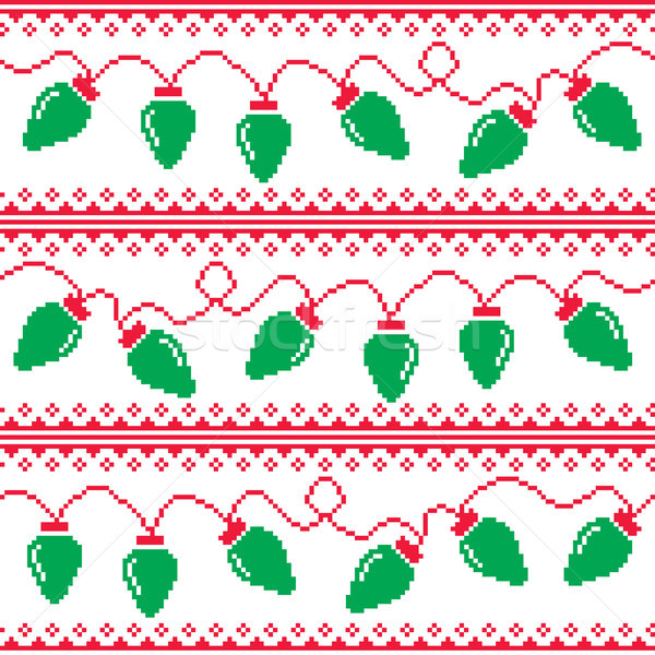 aa5b09868  8206219 Christmas tree lights seamless pattern