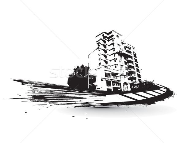 городского Гранж город образец текста бизнеса Сток-фото © redshinestudio