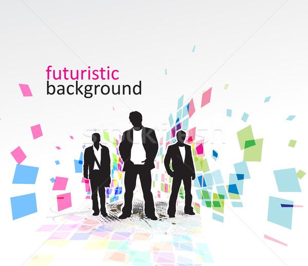 аннотация мозаика Постоянный бизнесмен технологий пространстве Сток-фото © redshinestudio