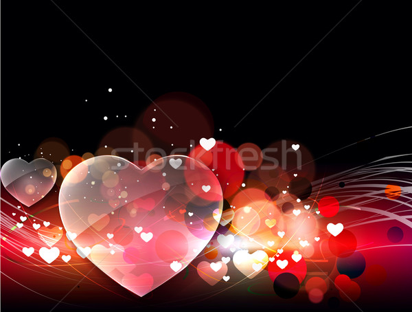 Stock photo: Abstract valentines day background