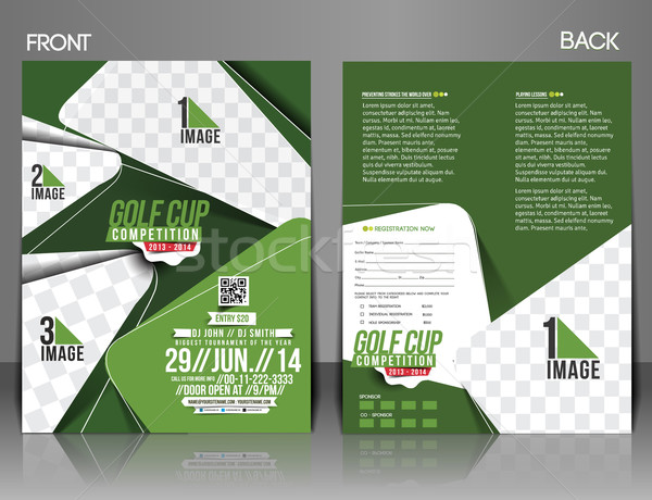 Golf Tournament Flyer Stock photo © redshinestudio