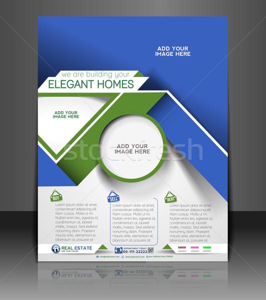 Real Estate Agent Flyer Stock photo © redshinestudio