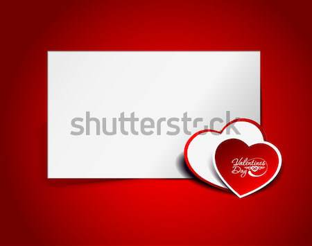 Stock photo: Gift card. Valentine's Day