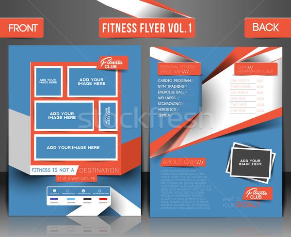 Fitness Center Flyer Stock photo © redshinestudio