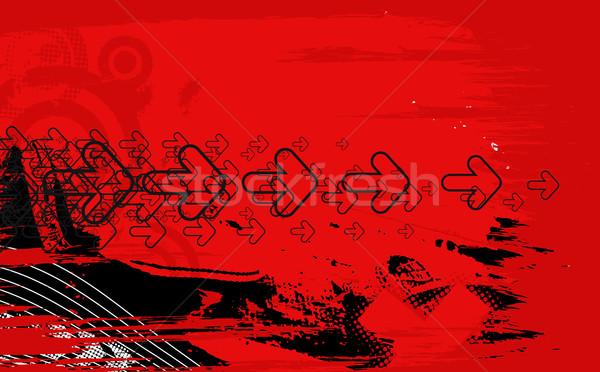 抽象的な グランジ 矢印 波 ハーフトーン 行 ストックフォト © redshinestudio