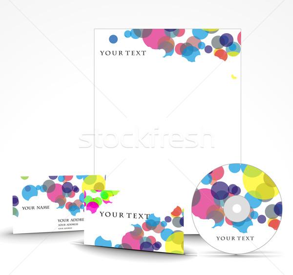 Affaires style modèles papier texture cadre Photo stock © redshinestudio