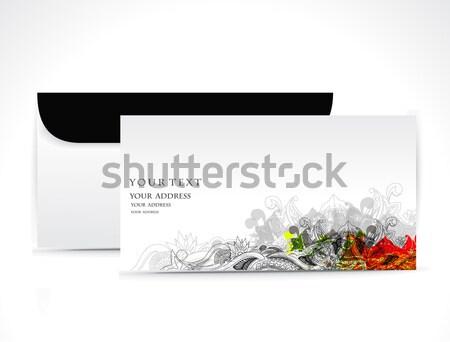 Papier enveloppe isolé blanche arbre web Photo stock © redshinestudio