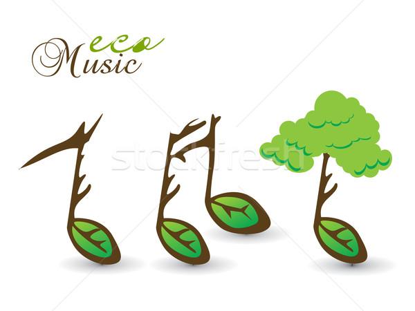 весны Эко карт музыку сведению дерево Сток-фото © redshinestudio
