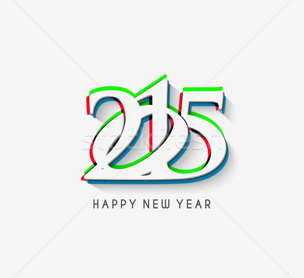 Stock photo: Happy new year 2015